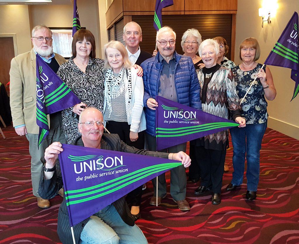 Irvine seniors members attend reestablished Unison retired members meeting.